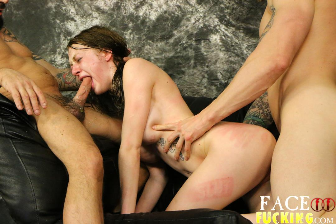 Karleigh rogers aka azura starr slapped throated and crying