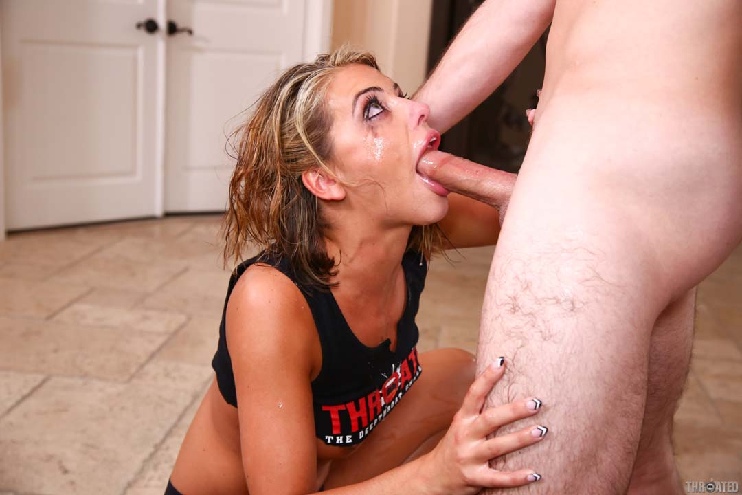 Adriana chechik gives a ultra sloppy deepthroat blowjob 10