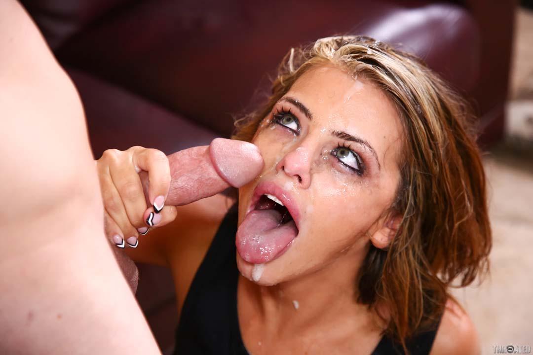 Adriana chechik gives a ultra sloppy deepthroat blowjob 6