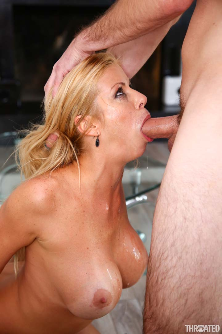 big tits milf alexis fawx deepthroats with her moist wet
