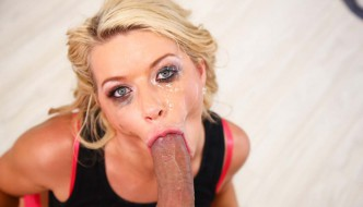 Hot blonde Anikka Albrite wants your cock balls deep in her pretty face