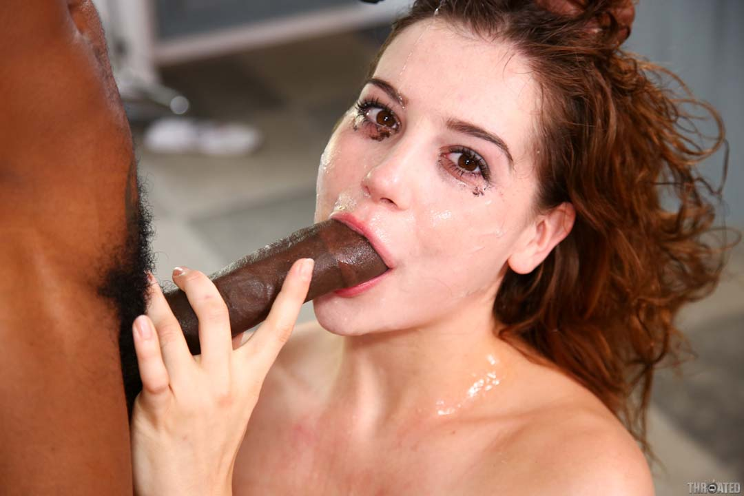 Cock deep porn star throat who