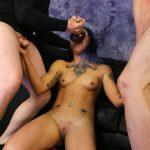 Punk rocker slut Orion Star gives you a sloppy deep throat fuck