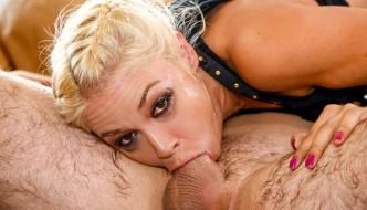 Deepthroat Queen Sarah Vandella gets nasty on your hard cock with her wet throat & mouth