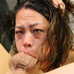 Asian slut Laci Hurst gets her pretty face pumped with two hard dicks