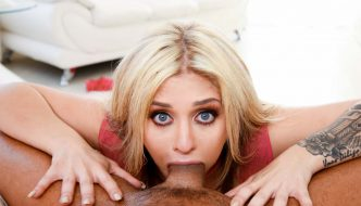 Sloppy & intense deep throat with hot blonde Madelyn Monroe