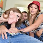 Double blowjob for a lucky guy from Darla Crane and Karter Foxxx