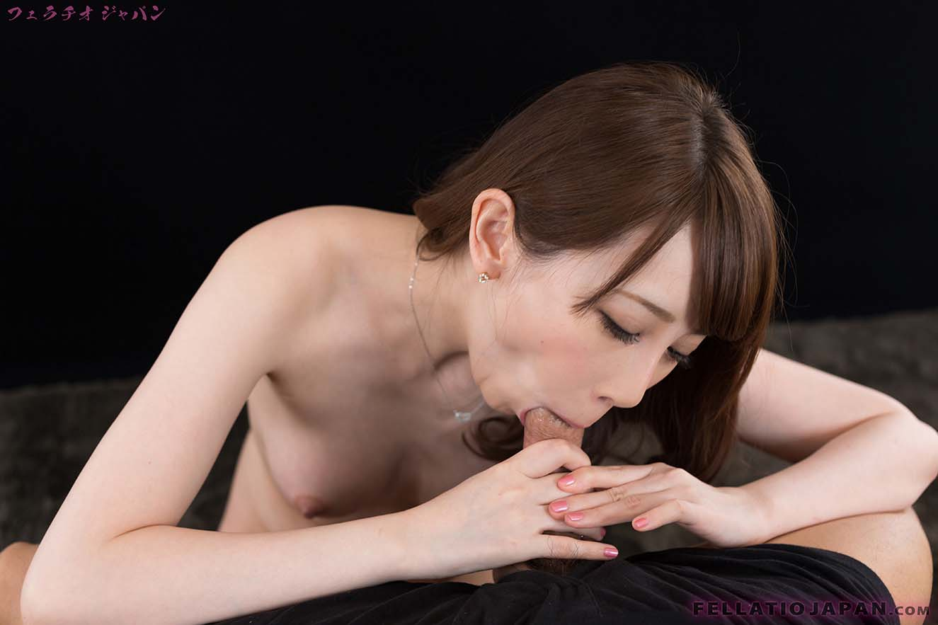 cute japanese minx aya kisaki enjoys swallowing a hot