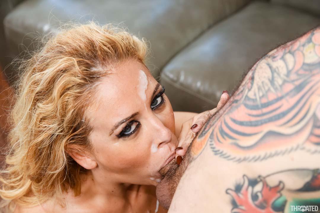 Big tits blonde Cherie DeVille shows how MILFs deep throat ...