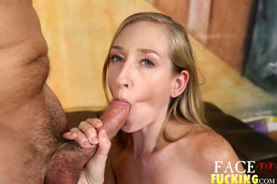 Her first brutal deepthroat job 2