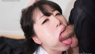 Seemingly innocent Asian schoolgirl gets a dick crammed down the back of her throat