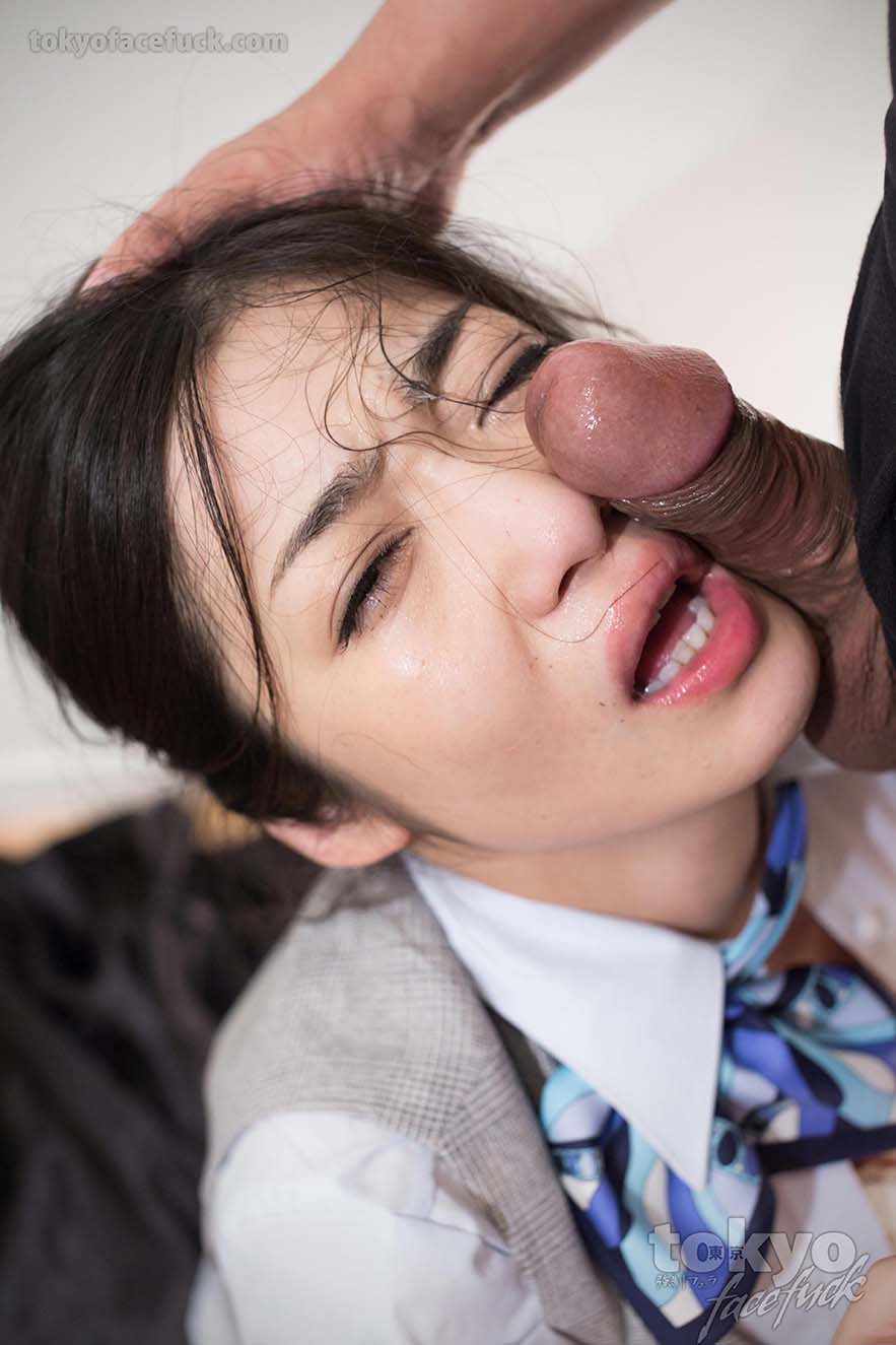 Asian face fuck