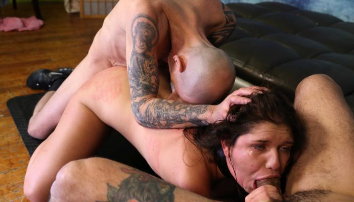 LOOK! Big Tits Teen Gets Her Throat & Ass Destroyed