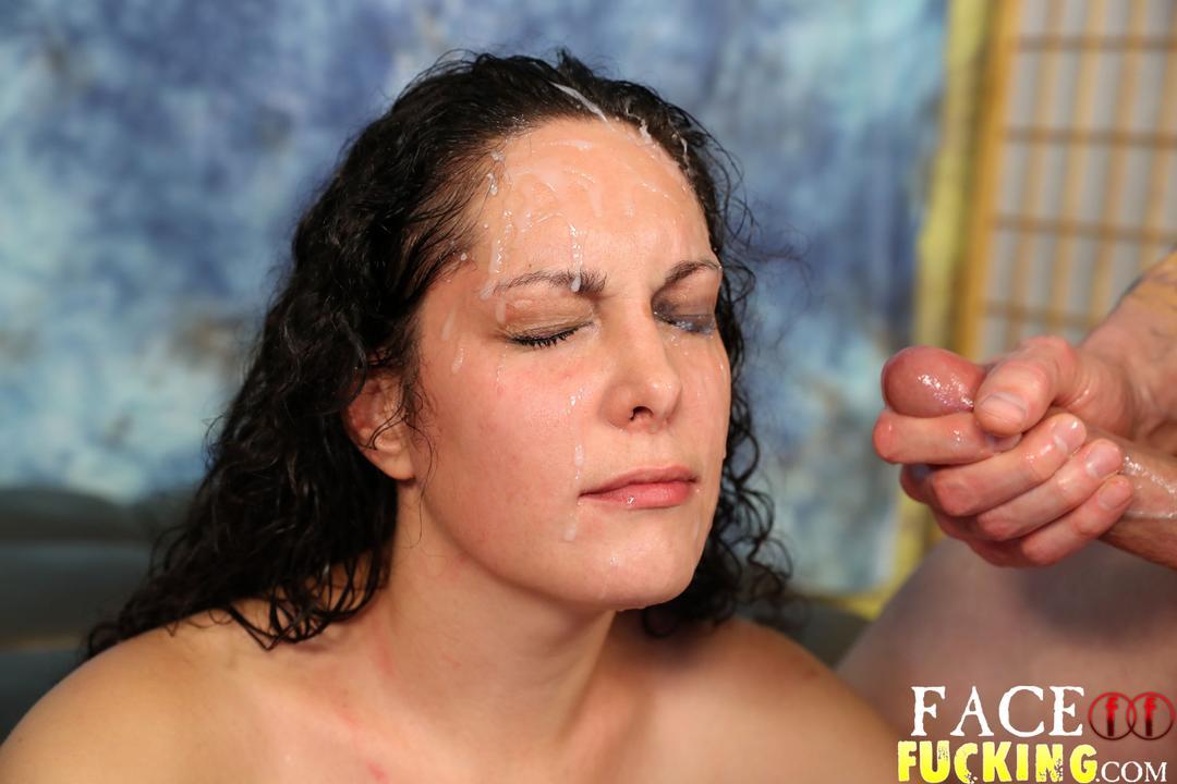 Slut takes a facial agree