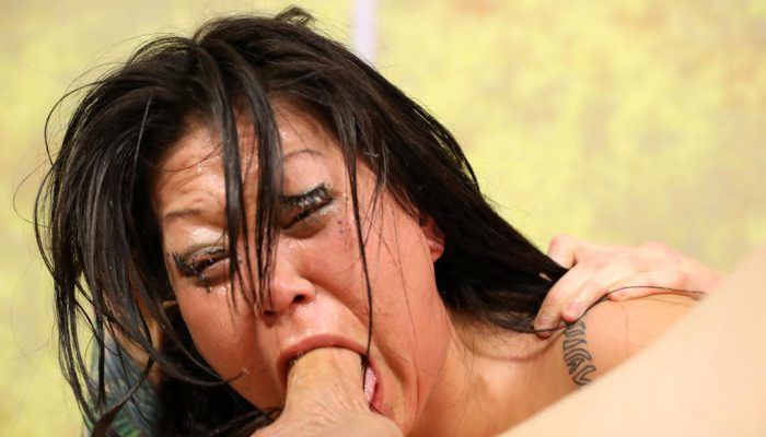 Submissive Asian Bitch Jeanna Silks Gets Her Throat Jammed With Two 9 Inch Cocks