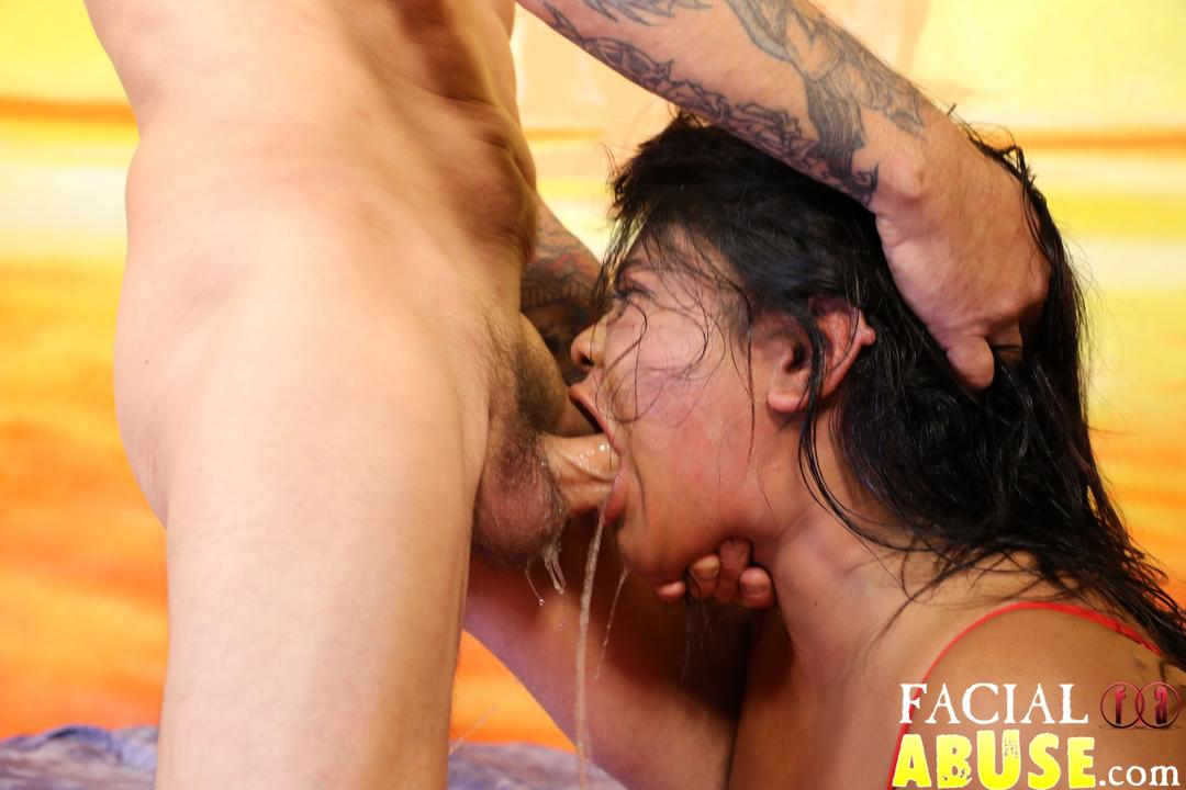 Extreme deepthroat gagging degrading 2