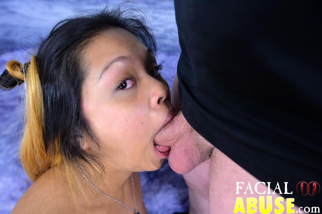 Asian Choking On Cock