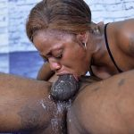 Vicious Balls Deep Black on Black Face Fucking With Lots of Mess