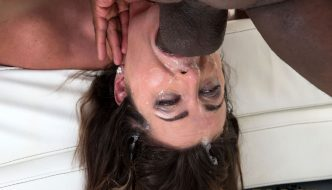 Submissive White Slut Helena Price Gets Her Throat Dominated With 10 Inches of Black Pipe!