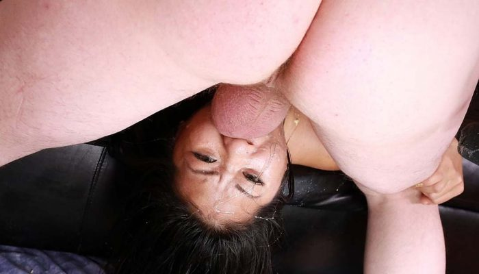 Would You Brutally Fuck This Cute Asian Girl's Throat Balls Deep?